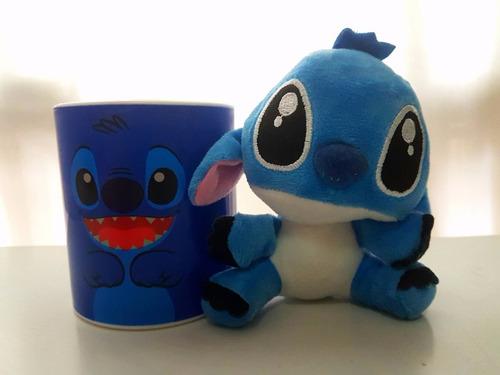 stitch taza + peluche