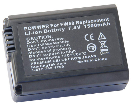 stk np-fw50 batería para sony alpha a6500 a5100 a7r ii ...