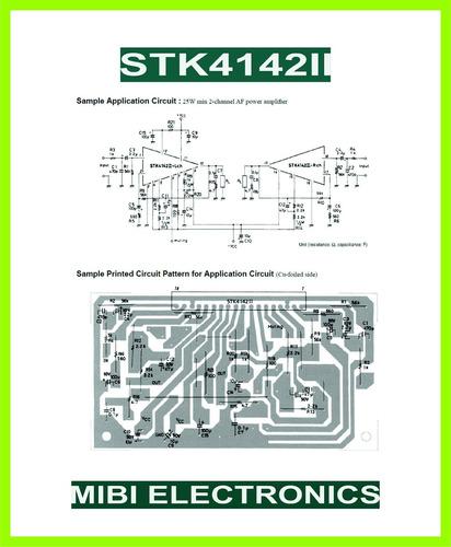 stk4142ii - stk4142 ii - stk amplificador 2 ch x 25w - envio