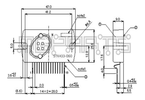 stk433-060 stk433060 circuito integrado audio amp on sanyo