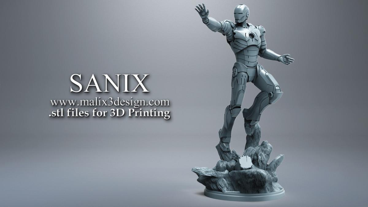 Stl Iron Man - (sanix)