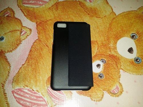 stock estuche flip cover  blackberry z10  original  negro