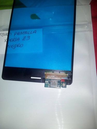 stock pantalla tactil touch  xperia z3 d6603 d6653 negro