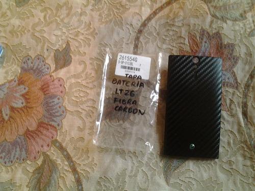 stock  tapa de bateria xperia s lt26 fibra de carbon
