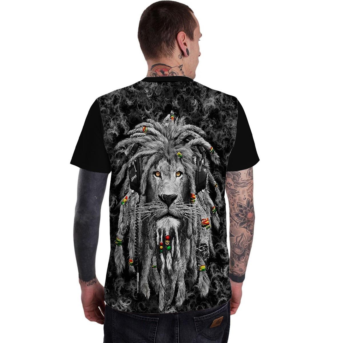 Stompy Camisetas Costas Lion Reggae Rasta Tattoo Tatuagem