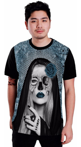 stompy camisetas - sad skull catrina tatoo tatuagem promoção