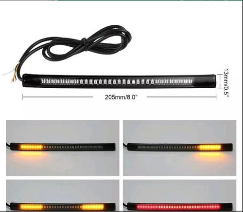 stop con direccionales integradas cinta led flex moto carro