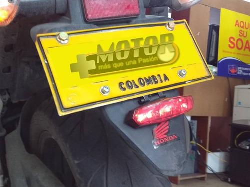 stop para moto led en portaplaca o maletero deluxe