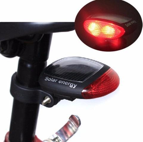 stop solar, luz trasera para bicicleta 2led