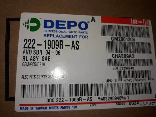 stop trasero derecho aveo sedan 2004 al 2010 depo 96540319