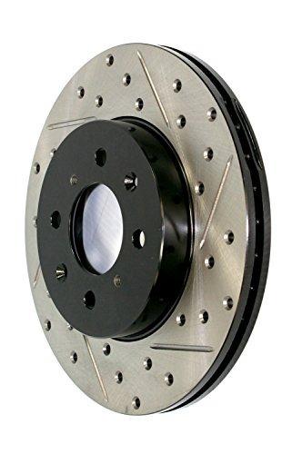 stoptech 127.38013l deporte perforado / ranurado freno rotor