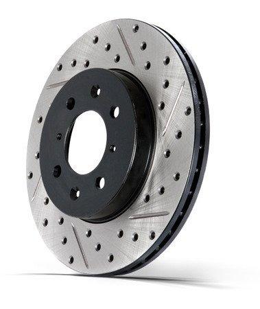 stoptech 127.62064r rotor freno perforado / ranurado deporte