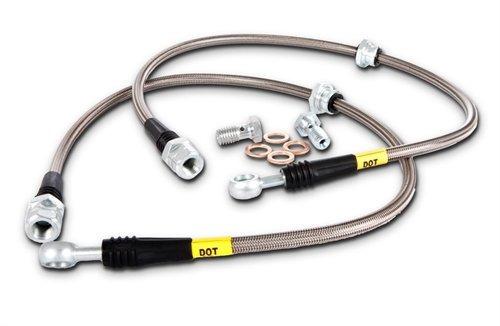 stoptech (950.34011) línea de frenos equipo , acero acero