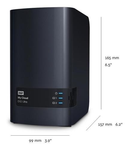 storage nas wd my cloud expert ex2 ultra 8tb (2x4tb