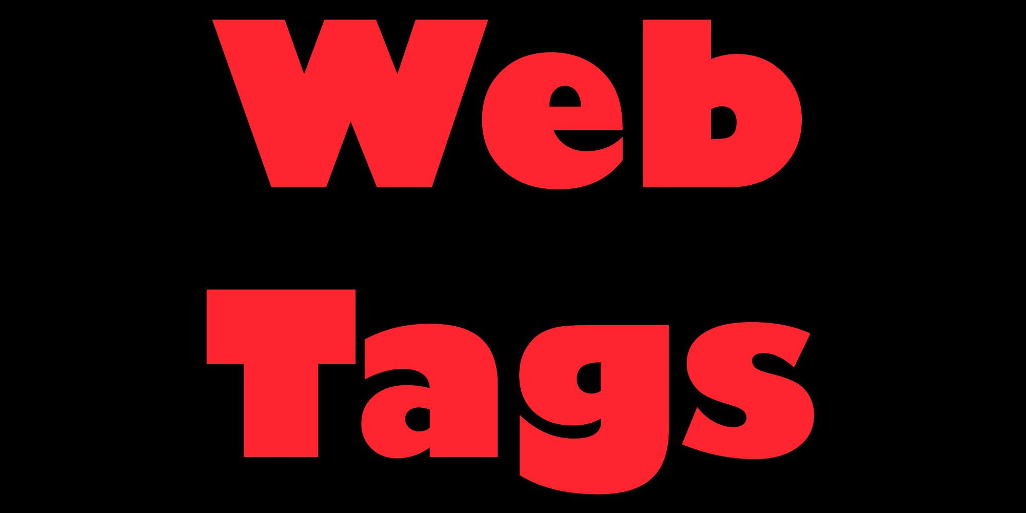 Webtags - Personalização