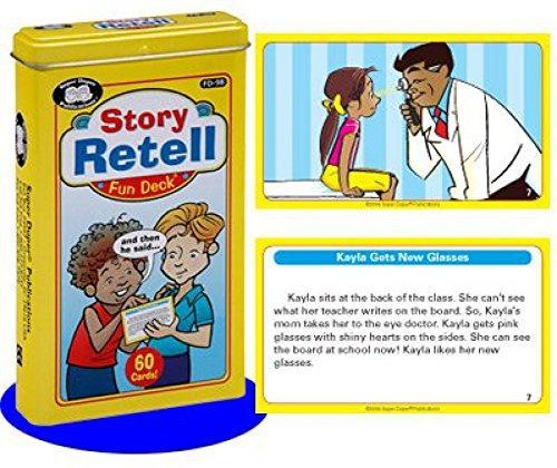 story retell fun deck cards - super duper - juguete de apren