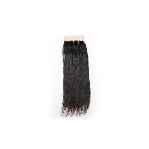straight three part lace closure brazilian hair 7a virginal
