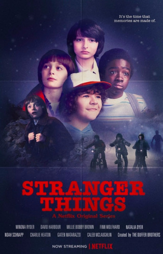 stranger things poster lamina eleven 48x32cm.300gs. mike