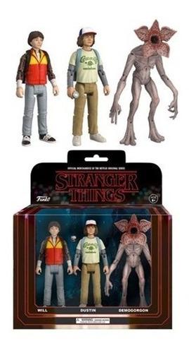 stranger things - set de 3- figura