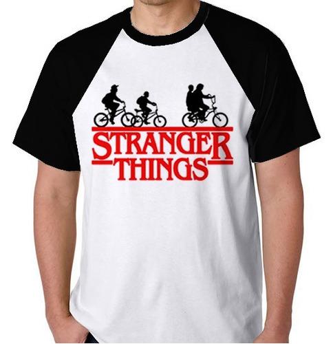 stranger things will blusa série camiseta raglan onze camisa