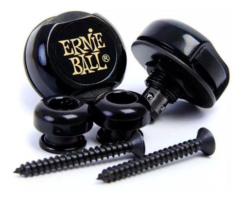strap lock trava p/ correia ernie ball gold/black usa