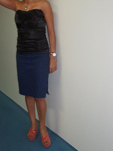 straples de raso negro marca mab.c/bolsa y etiqueta p/regalo