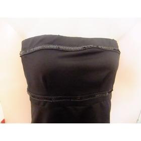 Straples Negro Bordado Con Lentejuelas. Talle S