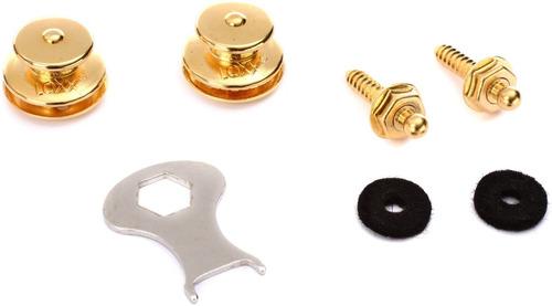 straplocks para guitarra electrica y bajo marca loxx dorados