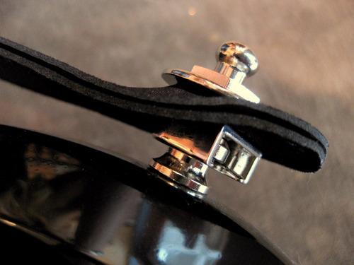 straplocks /seguros para correa, guitarra o bajo (cromados)