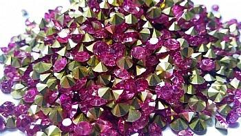 strass ponto de luz pedras rosa - 5 mm - 200 pedras