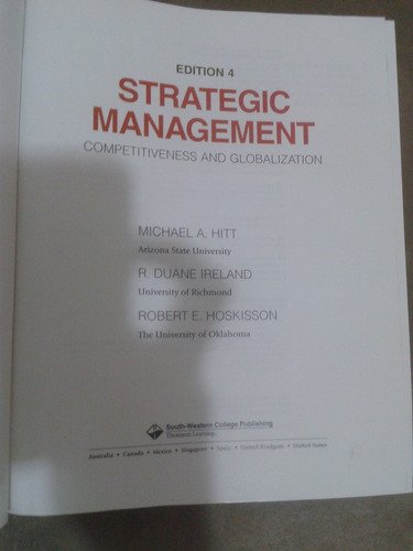 strategic management - micheal  hitt - ireland - hoskisson