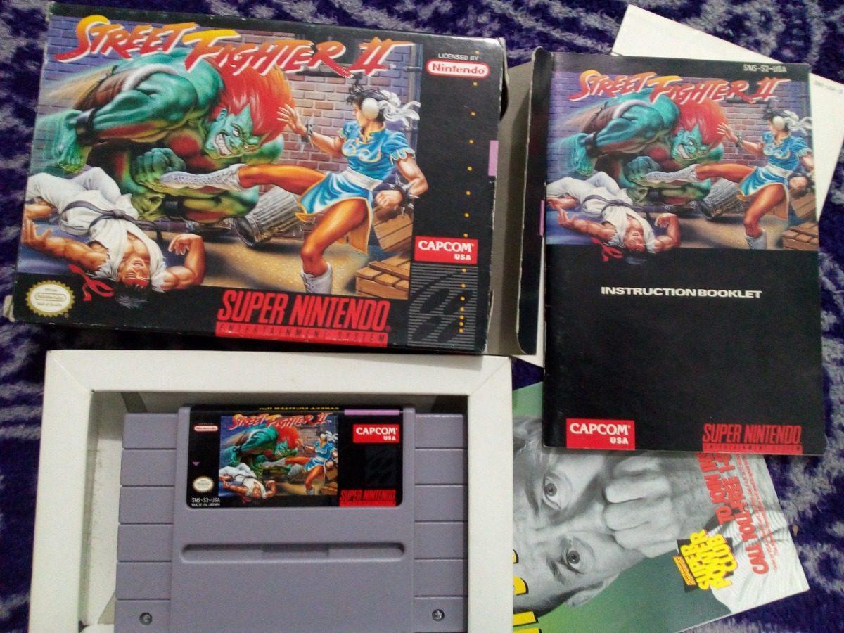 Street Fighter 2 Snes Caja Instructivo Nintendo Super Ninten - $ 1,200 00