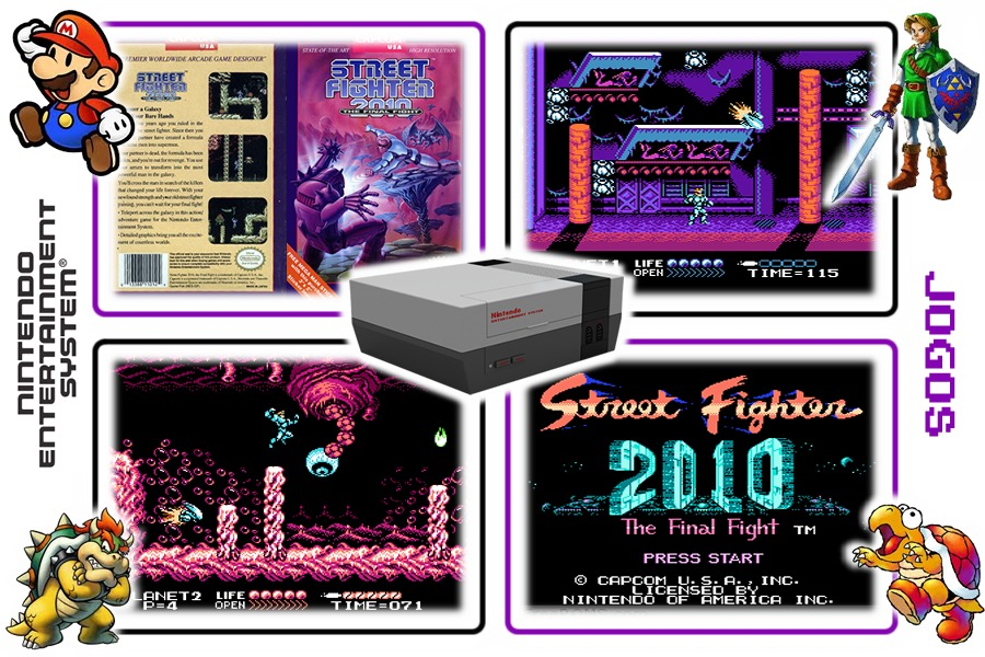 Street Fighter 2010 The Final Fight Original Nes Nintendinho R