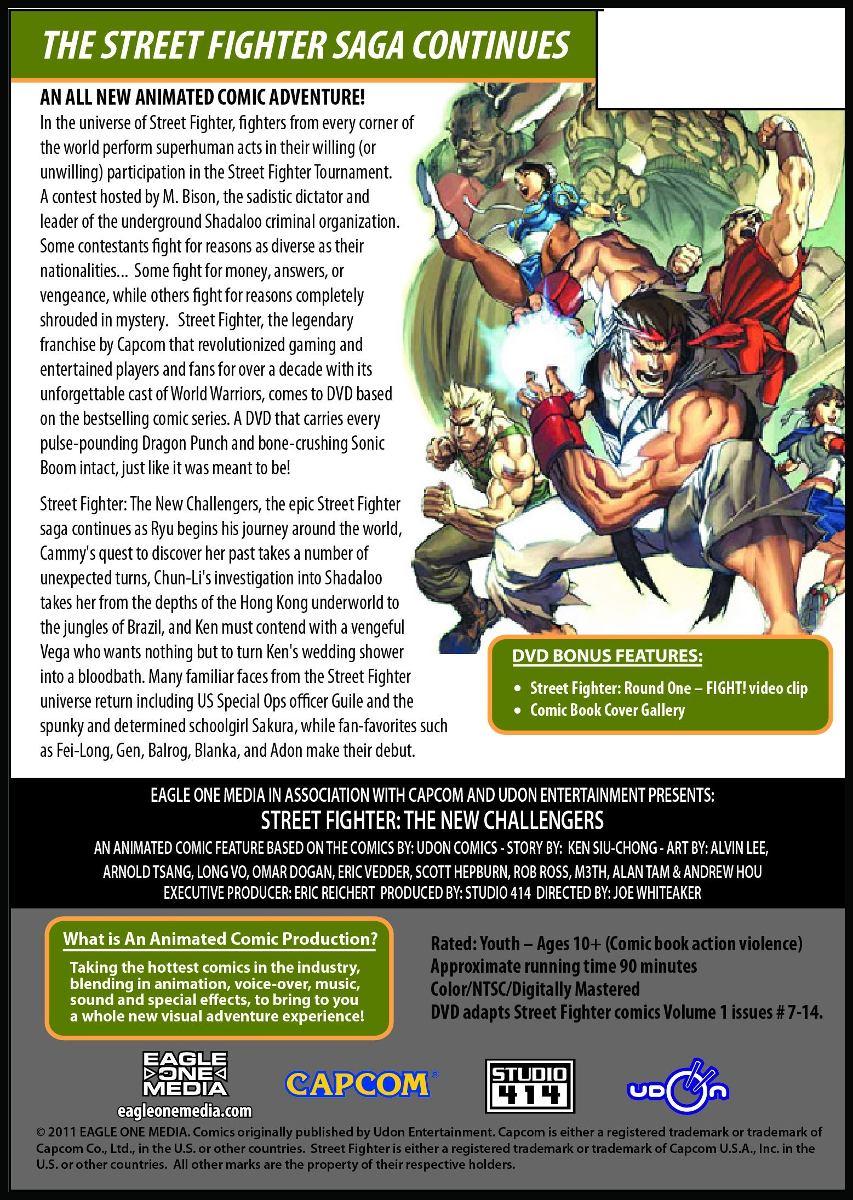 Street Fighter: Cómic Animado, Volumen 2 - The New Challenge