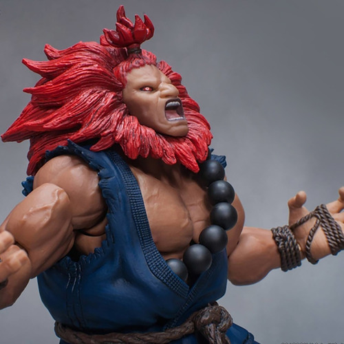 street fighter v - akuma - storm collectibles robot negro