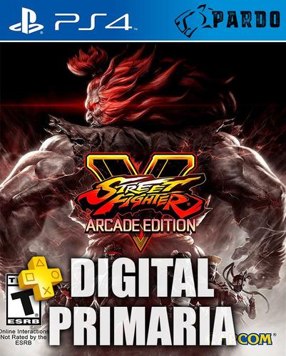 street fighter ® v arcade edition + plus ps4 digital - pardo