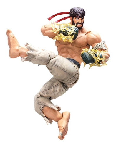 street fighter v hot ryu storm collectibles - robot negro
