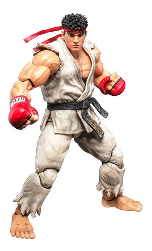 street fighter v ryu 1/12 - storm collectibles - robot negro