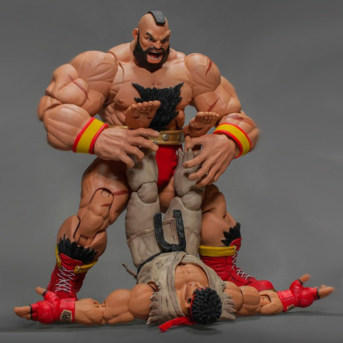 street fighter v zangief storm collectibles - robot negro