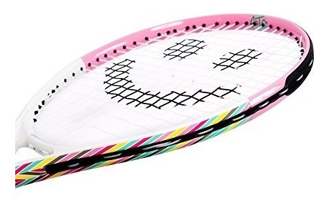 19-Inch Street Tennis Club Tennis Rackets for Kids Pink/White