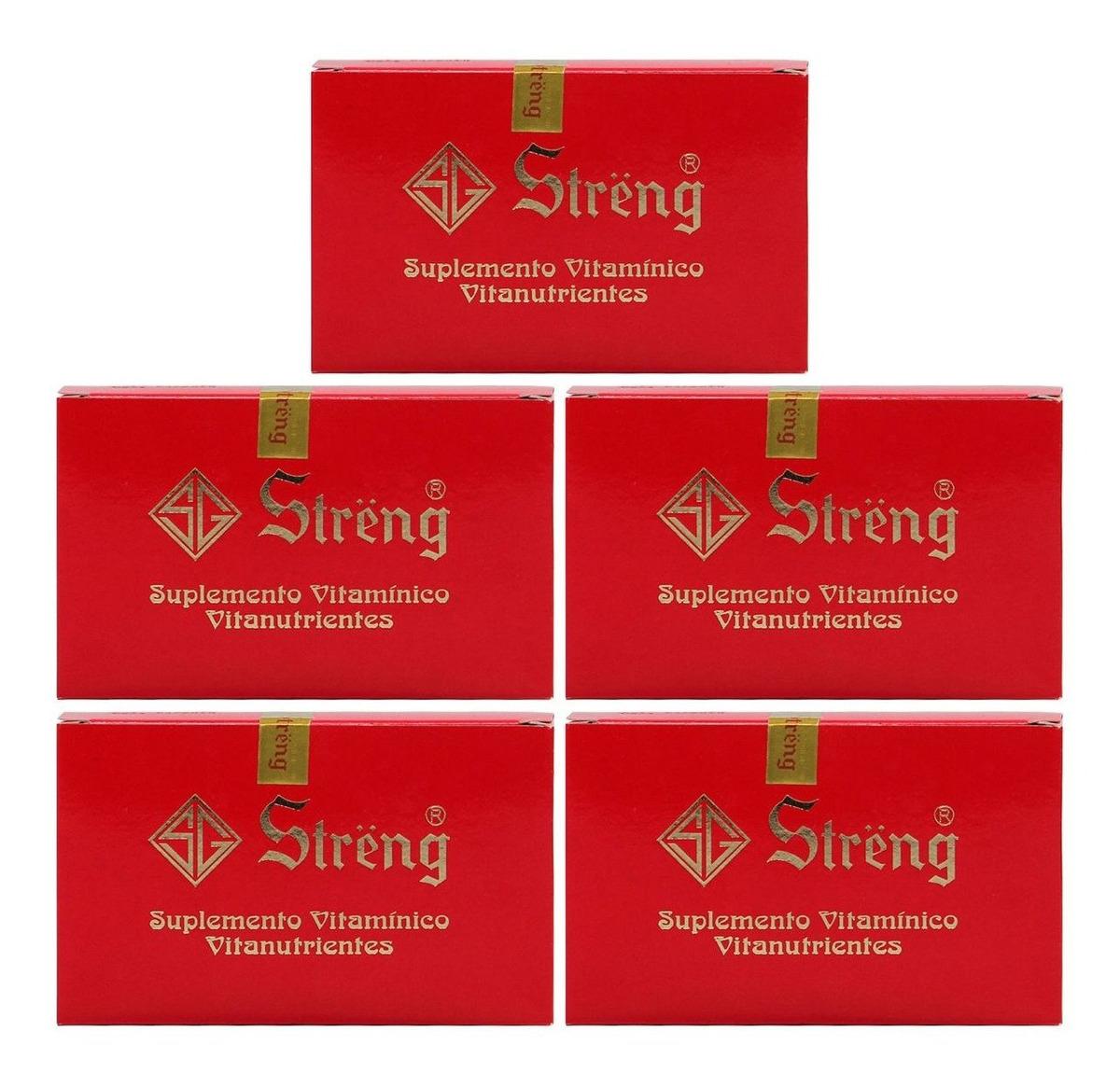 Streng Suplemento Vitaminico 16 Frascos 5ml Kit 5 Unidades