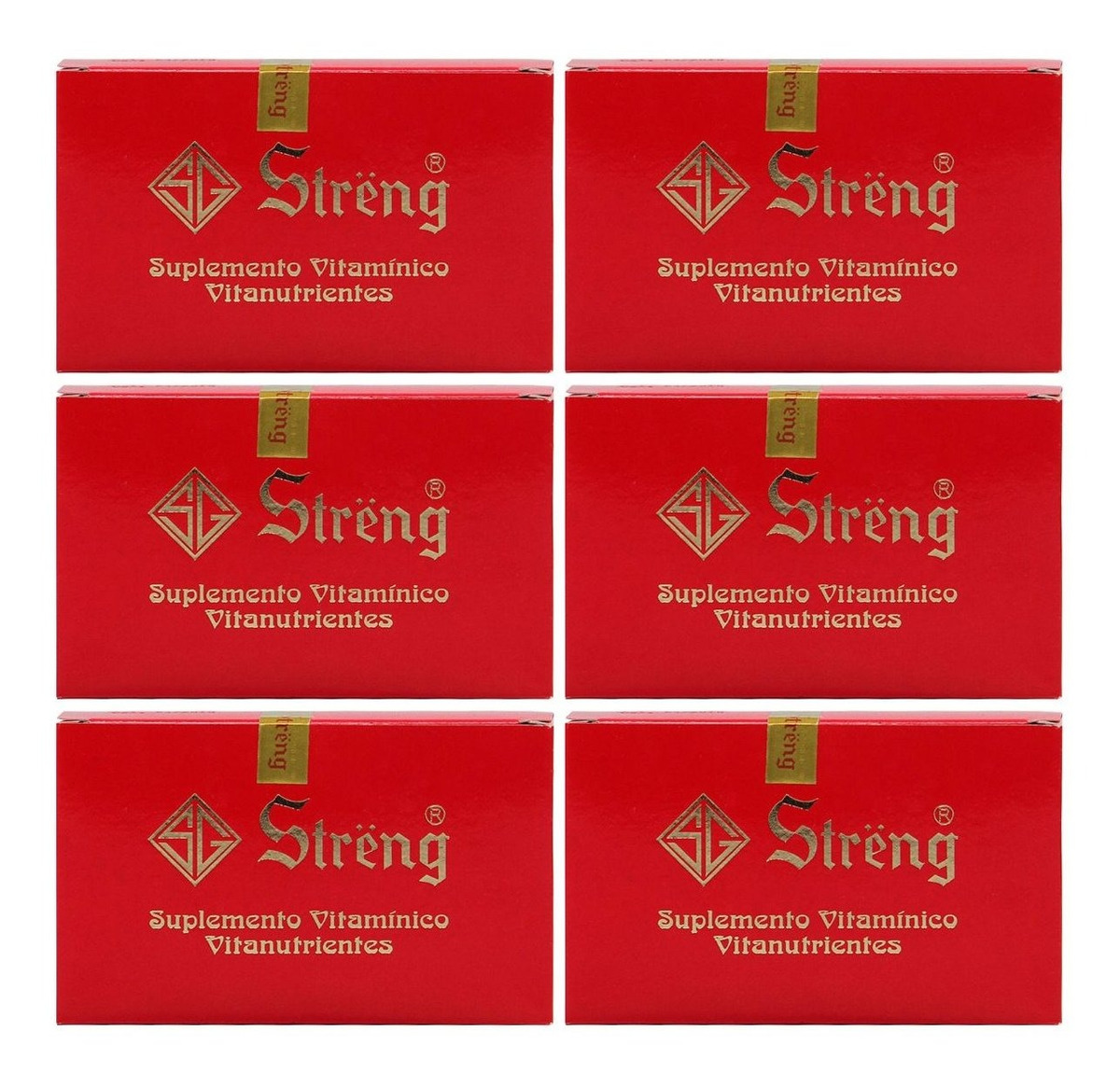 Streng Suplemento Vitaminico 16 Frascos 5ml Kit 6 Unidades