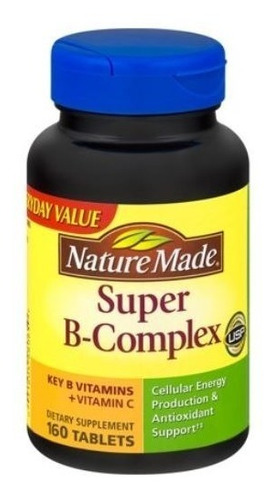 stress complexo b nature made + vitamina c 160 capsulas