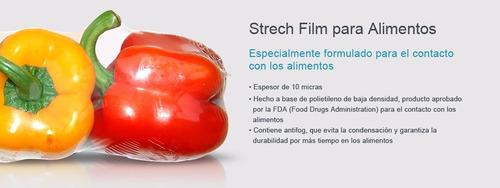 stretch film alimentos comida