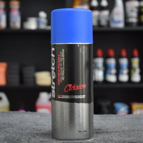 stretch pintura removible vinilo en aerosol azul