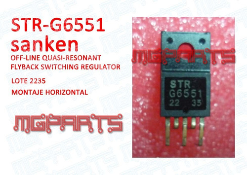 strg6551 str-g6551 original sanken ic regulador cd