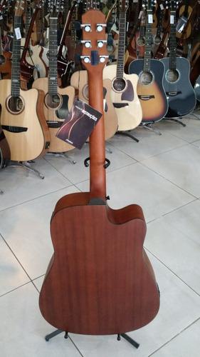 strinberg violão folk elétrico canhoto af65c natural fosco