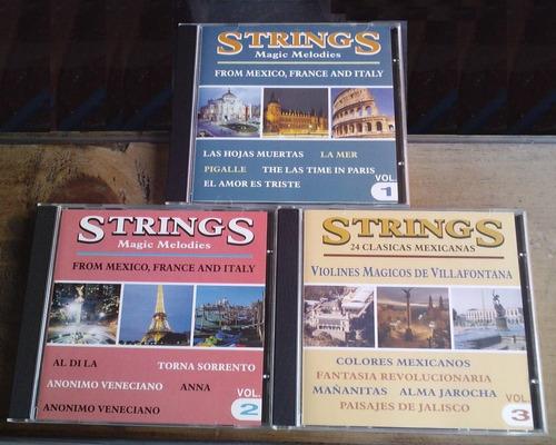 strings magic melodies set de 3 cds c/su arte orig . mdn