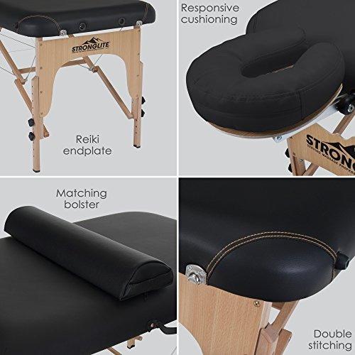 stronglite mesa de masaje portátil olympia - paquete compl