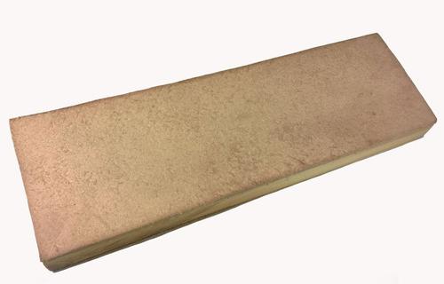 strop de couro pequeno para afiar facas + pasta polir jacare